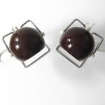 1970s brown Abo Randers Stat Danish ball lamp pair