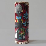 Large Italian 50s/60s lava girl vase by Caby