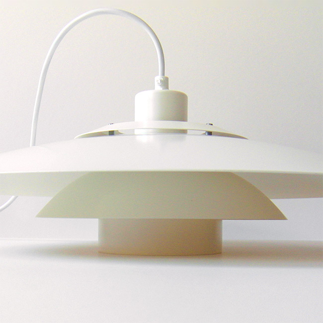 Vintage Danish modern layered pendant light