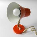 Orange 1950s Danish modern table or wall lamp