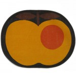Tablemats (2) by Sodahl of Denmark orange brown apple