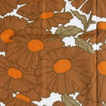 Large Swedish wild flowers curtain orange/brown