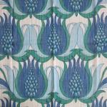 Gauzy Swedish art nouveau revival curtains as new