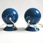 Blue Ny-Mag ball lights by Abo Randers Denmark