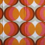 Classic 60s Danish orange/pink pop-art curtains