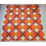 Classic 1960s orange and pink pop-art fabric