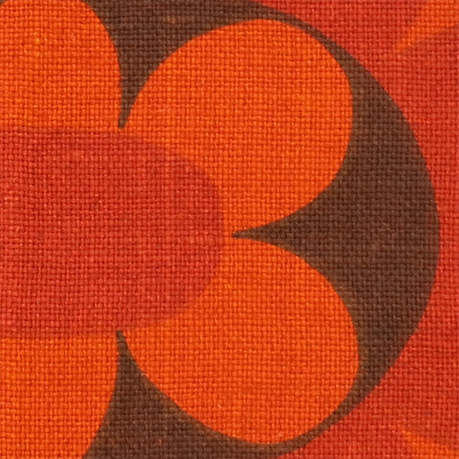 Tablemats (2) by Sodahl orange & brown 60s/70s