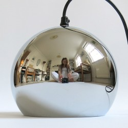 Chrome ball hanging light Danish near mint