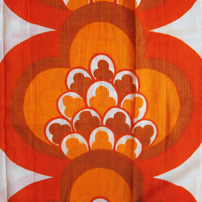 Huge vibrant 1960s Danish open weave curtain mint