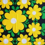 Finlayson Finland 1970s as new bold flowers tablecloth