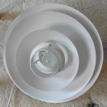 Layered white Form-Light classic Danish vintage lamp