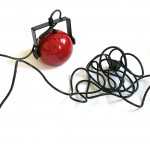Danish hanging ball lamp with adjustable frame