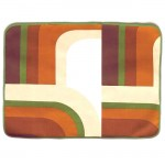 Bold geometric tablemats (3) green and brown