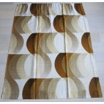 Geometric neutrals vintage Danish curtains 60s/70s