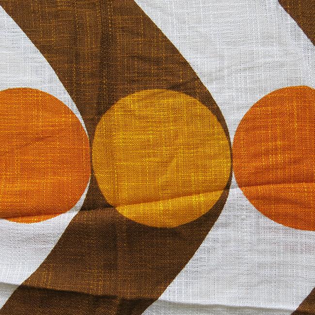 Golden circles Danish Gardisette brand curtain