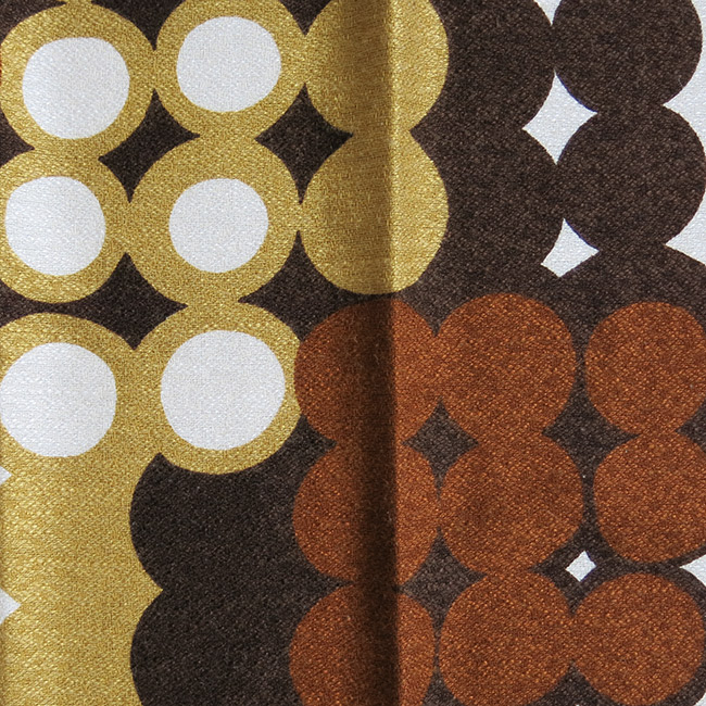 Ultra-high quality Danish curtains pair 60s/70s