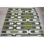 Green lozenges curtain large Danish 1960s/70s