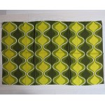 Green onions 1970s geometric design small curtains