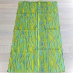 Slinky sateen fabric mint unused Danish 1960s