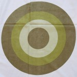 Huge green targets curtain 1970s Danish