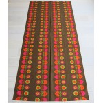 Hearts & flowers tablecloth Danish vintage 1960s