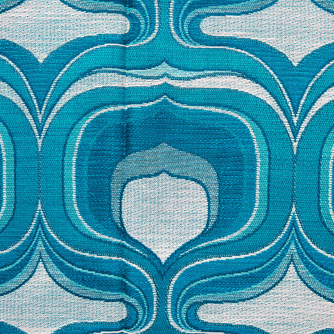 Kingfisher blue fabric for wall hanging or table