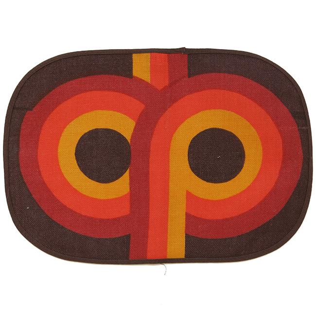 Tablemats (2) Sodahl Design brown orange 1960s/70s