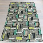 Classic midcentury style 1950s or early 1960s curtains
