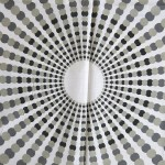 Monochrome op art sunburst fabric unused 1970s