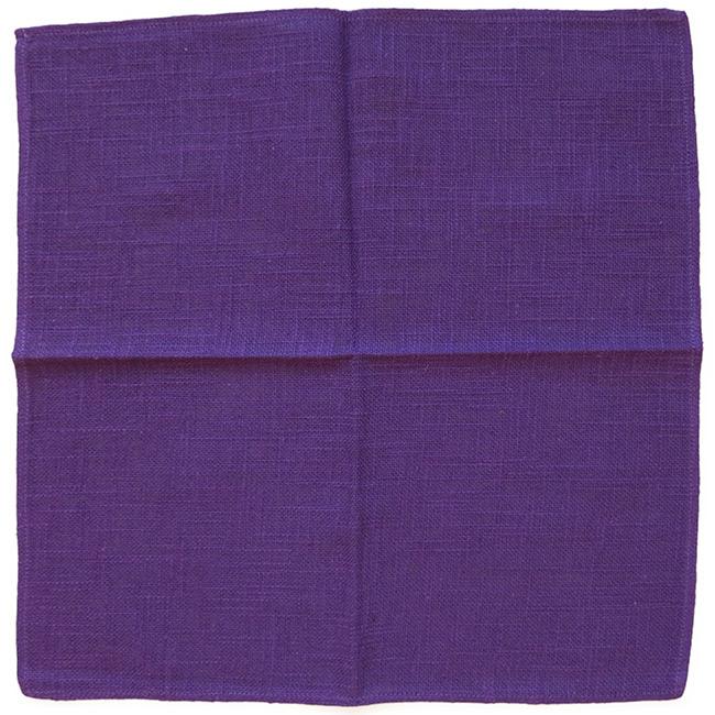 Napkins (5) vintage Danish purple slubbed fabric