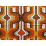 Early 1970s psychedelic pop-art curtains