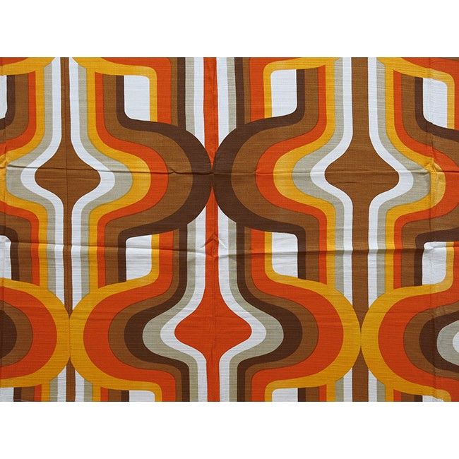 Early 1970s Psychedelic Pop Art Curtains