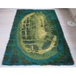 Ege Rya vintage Danish pure wool rug 1968