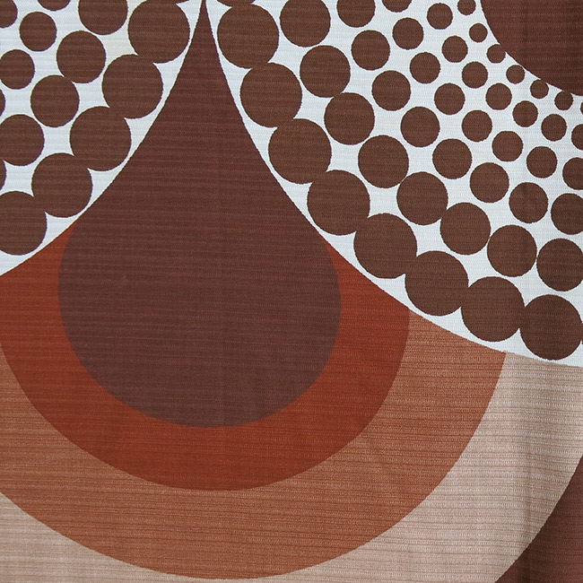 Geometric abstract pop-art peacock curtain 1970s