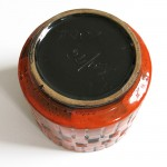 Vintage 60s/70s orange art pottery planter