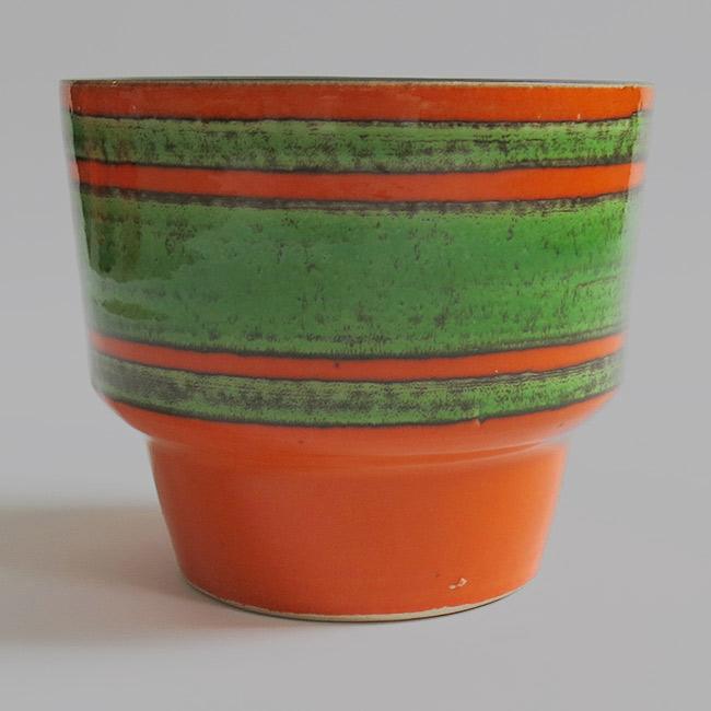 Vintage 60 s/70 s orange/green German planter