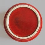 Vintage red German pottery planter 1960s/70s