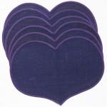 Tablemats (6) purple hearts by Sodahl Design Denmark