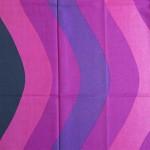 Panton-style purple wave fabric curtain as new
