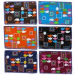 Six multicoloured vintage tablemats made in Denmark 1970s