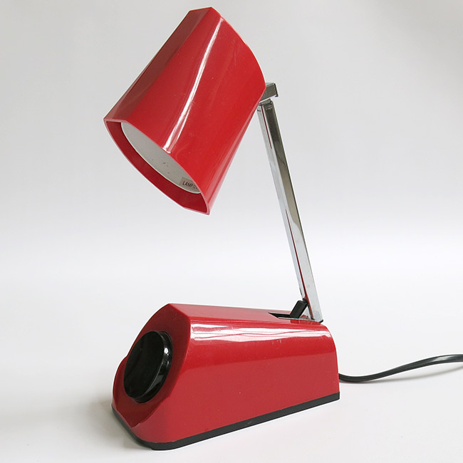 HBH red halogen desk and work lamp Danish 1970s