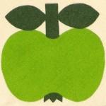 Södahl green apples circular tablecloth Danish