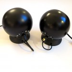 Black Mag ball lights by Abo Randers of Denmark