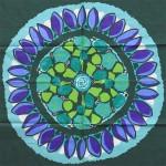 Swedish signed art print tablecloth 1960s Bora