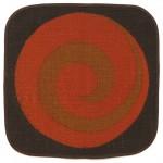 Tablemats (2) by Sodahl of Denmark orange brown swirl