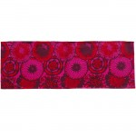 Vivid red and magenta flowers table runner