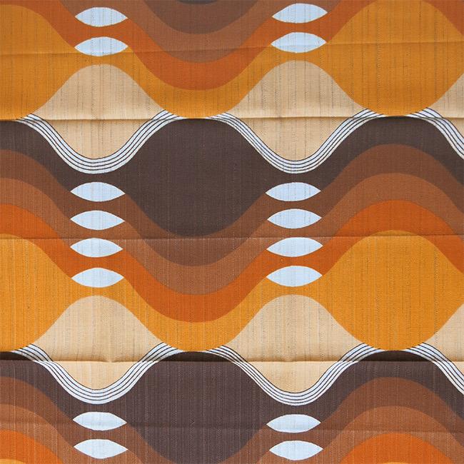 new vintage furnishing fabric orange and brown