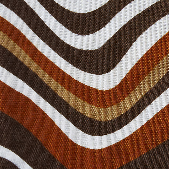 Wobbly waves fabric Danish vintage 1960s/1970s