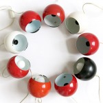 Original 1960s/70s strong metal Mag Danish bubble lamps