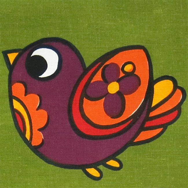 Brand new vintage linen Bowa artwork tea towel